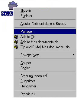 "Partage de ""Mes Documents"""